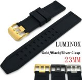 Nos Sênior de silicone suave de borracha natural Watchband 23mm Modelos Macho Preto Tabela Militar para homens Luminox pulseiras de relógio