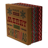 Акценты 1 яркия блеска коробок подарка рождества большие 4 малых круглых квадратных пачки установили