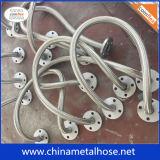 Revestimento de Teflon PTFE/Mangueira de metal flexível com capa trançada e o flange