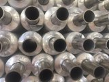 Tubo de aleta compuesto del acero y de aluminio del metal doble en refrigerador de aire