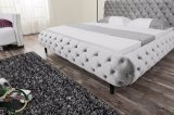Base de couro Tufted moderna Slivery de Headborad