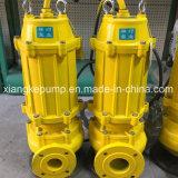 La serie wq la suciedad de aguas residuales bomba de agua eléctrico sumergible 4kw
