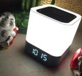 Haut-parleur portatif sans fil de Bluetooth d'horloge d'alarme d'éclairage LED pour l'ordinateur