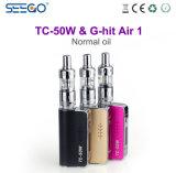 큰 수용량 3.8ml Seego는 공기 전자 담배 액체를 Tc 50W+G 명중했다