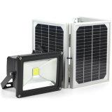屋外の太陽LEDのフラッドライトランプの太陽電池パネルが付いている防水IP65高い内腔の洪水ライト