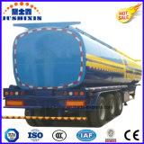 Acoplado 40, 000L del tanque del combustible/de gasolina del acero de carbón del Tri-Árbol