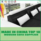 Meubles modernes de salle de séjour de sofa de cuir de loisirs