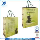 Bolsa de papel de piedra respetuosa del medio ambiente de la impresión de encargo