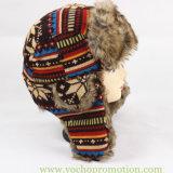 Шлем Trapper Ushanka теплого шлема зимы Acrylic 100% связанный жаккардом русский