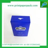 Rectángulo de empaquetado de papel del papel revestido del perfume del rectángulo de regalo del regalo cosmético de encargo del rectángulo