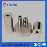 N45 Coating Nickel Neodymium Ring Column Magnet NdFeB