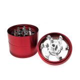 Le tabagisme Herb grinder en alliage en aluminium lisse main Grinde du tabac (ES-GD-092)