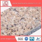 Известняк камень ячеистых алюминиевых панелей для наружной стены салона оболочка