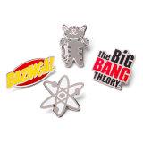 1 pouces de haute qualité de l'embrayage de l'émail dur Badge en métal