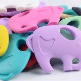Het goedkope Speelgoed van de Hulp van de Jonge geitjes van het Stuk speelgoed van Teether van de Baby van de Olifant van het Silicone Tandjes krijgende