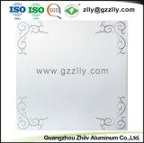 Panneau de plafond en métal dépoli décoratifs avec motif de fleurs
