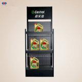 Kundenspezifischer Kleinschmieröl-Metallausstellungsstand/Motoröl füllt Bildschirmanzeige-Regal ab
