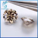 7.0mm 1.25cts 화려한 커트 생생한 어두운 Champagne 색깔 Moissanite 다이아몬드의 둘레에