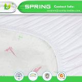 Cubierta ajustada impermeable natural de la pista del pesebre del algodón orgánico de la cubierta y del protector de colchón del pesebre del bebé