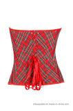 Mujeres que adelgazan a talladoras rojas del corsé del amaestrador de la cintura de Underbust Shaperwear