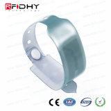 PVC muñequera ajustable desechable RFID de seguridad para niños