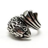 Ring van de Mens van het Roestvrij staal van de Juwelen van de manier de Punk Zilveren