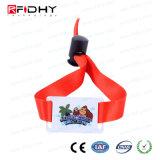 ファブリックストリップが付いている1つの時間の使用の許可PVC RFIDリスト・ストラップ