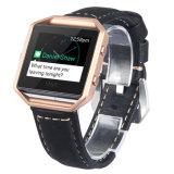 La sustitución de cuero casual Watch correa con el marco de metal para Fitbit Blaze Smart banda Fitness