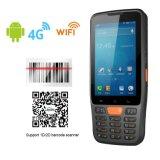 4インチのタッチ画面4G 3G 2gは二重スタンバイRFIDのスキャンナー人間の特徴をもつPDA SIMの二倍になる