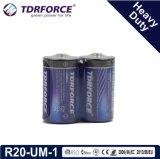 煙Detetorのための中国の工場極度の頑丈な乾電池(LR20-Dはサイズある1)