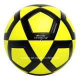 Último diseño impermeable de color amarillo brillante pelota de fútbol