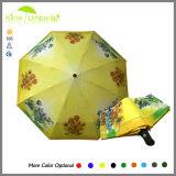 Automatischer 3 Falten-Regenschirm und voller Druck-Zoll-Regenschirm