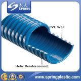 L'aspiration flexible de PVC renforcée par spirale en plastique arrose le boyau mou de pompe