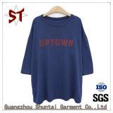 T-shirt personnalisé de femmes estampé par coton de qualité