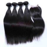 Remy Cheveux humains Bundles droites de couleur naturelle des cheveux vierges brésilien