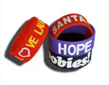 Kundenspezifischer gedruckter Firmenzeichen Siliocne Wristband für Geschenke (YB-SM-02)