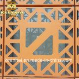 Façade en aluminium décorative coupée par laser de mur rideau