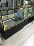 Refrigerador de vidro Right-Angle do bolo do refrigerador da pastelaria do refrigerador do indicador do bolo da porta com alta qualidade