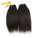 Cabelo humano de Remy das extensões peruanas do preço de grosso do cabelo