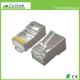 Conetor da rede do plugue de Cat5 UTP RJ45 10p10c