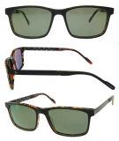 Os óculos de sol materiais do acetato para homens e mulheres polarizaram a lente