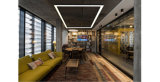 최신 인기 상품 4FT 40W Linkable LED 건축 천장 빛 현대 선형 현탁액 펀던트 램프 전등 설비 4600lm 5000K 일광 백색
