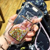 Glitter estrellas de lujo del líquido cubierta de la caja de teléfono para el iPhone 7