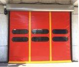 자동적인 PVC 빠른 속도 각자 복구 급속한 회전 셔터 차고 문