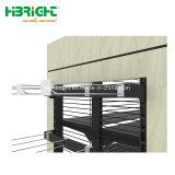 Nuevo tipo de combinación de madera y metal supermercado Rack estanterías en venta