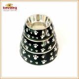 Leopard-Muster Melamine&Stainless Stahlhaustier-Hundefilterglocke (KE0004)