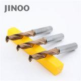 Ferramentas de perfuração CNC Jinoo 2flute broca de carboneto de tungsténio