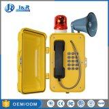 Teléfono de la radiodifusión impermeable para la industria, el túnel teléfonos de emergencia con cuerno y baliza
