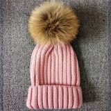 Cappelli lavorati a maglia modo con pelliccia POM Poms