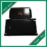 Caixa de papel impressa da caixa negra logotipo vermelho